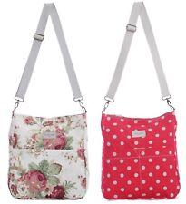 Reversible Messenger Cross Body School Bag Red Spot Floral Florence Happy Ladies