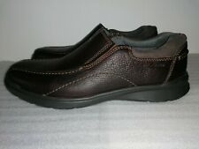 CLARKS COTRELL STEP MENS BROWN OILY LIGHTWEIGHT FLAT CASUAL SHOES UK SIZE 11