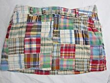 * Madras Patchwork Plaid American Eagle Mini Skirt lined sz 6 Womens Cotton