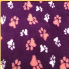 VET BED Dogs dog Bedding Fleece Bed  PURPLE DUO Rubber backed 0.75m x 1.0m