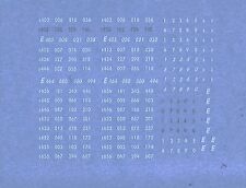 DECAL,TRASFERIBILI FS MARCATURE FRONTALI LOCO TRAZ.ELETTRICHE XMPR sc.N (160.02)