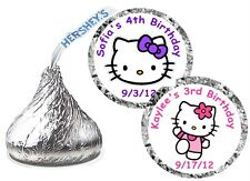 108 HELLO KITTY BIRTHDAY PARTY FAVORS HERSHEY KISS KISSES LABELS