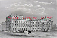 Whitehall, OLD TREASURY BUILDING ~ 1851 Engraving Print