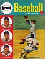 1952 (Oct.) Inside Baseball Magazine,Phil Rizzuto,New York Yankees, Stan Musial