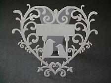 12 Blancs Oiseaux Amour en Cœur Cartes Placement Mariages,Baptêmes,