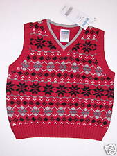 NWT Gymboree Holiday Classics Red Sweater Vest 12-18
