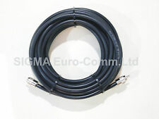 RG213 Low Loss 50 Ohm Coaxial Cable 2m Fitted With 2 x PL259 Male Connectors