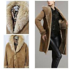 New Wilson Leather Western Heavy Fur Shearling Jacket Womens Small Medium