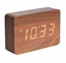 Reloj despertador Karlsson temperatura fecha Marrón LED cuadrado