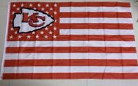 New Kansas City Chiefs 3x5 Ft American Flag USA stars and stripes banner