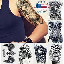 10 Sheets Temporary Tattoos Body Arm Tattoo Sticker Long Sleeve Fake Waterproof