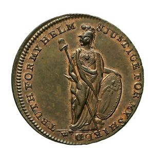 Middlesex Spence's Halfpenny Token  John Thelwall / Minerva  D&H 866