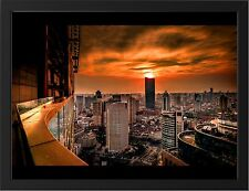 """SHANGHAI A3 FRAMED PHOTOGRAPHIC PRINT POSTER 15.7"""" x 11.8"""""""