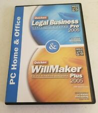 Quicken Legal Business Pro & Will-Maker Plus 2005 PRE OWNED