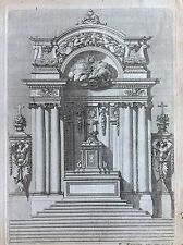 Tabernacolo altare Paris chez P. Mariette Rue S. Iacques acquaforte XVIII Potre