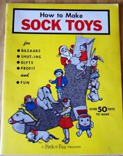 How To Make Sock Toys 1958 Vintage Pattern Book booklet Pack-O-Fun Sewing Crafts