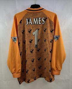 Liverpool James 1 GK Football Shirt 1996/97 Adults 3XL Reebok G688