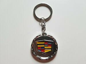 Cadillac Logo Key Ring KeyChain Metal Silver
