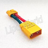 XT90 Stecker auf XT60 Buchse 12AWG ORIGINAL AMASS ! Adapter Lade Kabel LiPo Akku