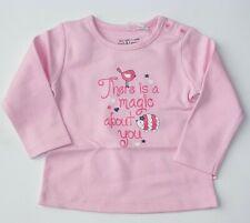 Mexx Langarmshirt T-Shirt pink Katze Baby Mädchen Größe 50 56 62 68 Neu