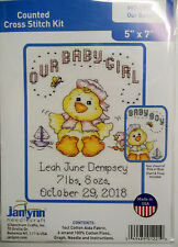 Our Baby  Counted Cross-Stitch Kit by Janlynn  5 x 7 Inches NIP