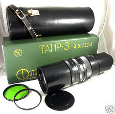 TAIR-3 300A A 300mm f4.5 USSR Pentax M42 fits Nikon Canon EOS EF Sony SLR CLEAN