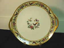 "HAVILAND FRENCH LIMOGES ""BRAZIL"" HANDLED CAKE PLATE/ SANDWICH TRAY DISCON. HTF!"