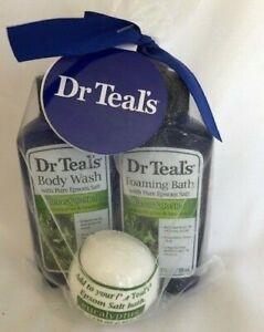 Dr Teal`s 3 Piece Gift Set 1-Body Wash 1-Foaming Bath 1-Epsom Salt Bath Bomb