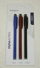 Targus Stylus & Pen, 3-pack (Black/Blue/Red) - AMM0601TBUS NEW