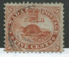Canada 1859 5 cents Beaver choice lightly used example