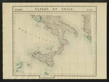 """Naples et Sicile"" #26 Southern Italy Sicily Albania. VANDERMAELEN 1827 map"