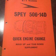 Rolls-Royce SPEY 506-14D Quick Engine Change M&E Training Manual