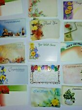 "Lot Of 400 Gift Cards Florist Gift Basket Supplies 3.5"" X 2.5"" no envelope"