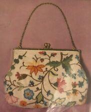 Columbia Minerva Crewel Floral Handbag Kit New Very Vtg 1964, Rare, Erica Wilson