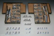 2 Pappkästen...mit Preisschildern aus Blech...wohl um 1930 !?