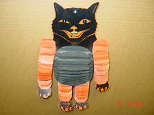 Vintage,Halloween,Honeycomb,Cardboard Cat Head,Black,Hanging,Tissue Decoration