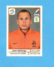 PANINI-EURO 2012-Figurina n.173- HEITINGA - OLANDA -NEW-WHITE BOARD
