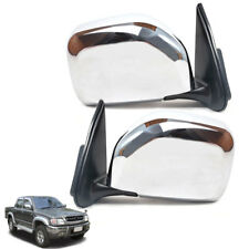 For Toyota Hilux Tiger 1998-2004 D4D MK4 UTE Pickup Door Wing Mirror Chrome