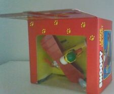 Vintage Peanuts Snoopy Flying Ace Aviva Large Die Cast New In Box Rare