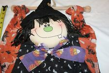 Halloween Plush Witch Indoor Cotton Fabric Hanging by Crazy Mountain Too Cute!