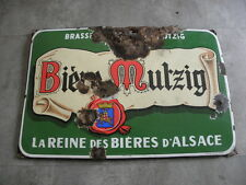 old Plaques émaillée mutzig publicité bière pud bar caveau bistrot Enamel beer