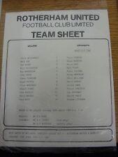 18/04/1989 Teamsheet: Rotherham United v Mansfield Town (folded). Thanks for tak