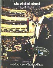 DAVID BISBAL UNA NOCHE EN EL TEATRO REAL 2 CDS + DVD NUEVO A ESTRENAR PRECINTADO