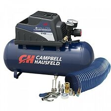 Air Compressor, Portable, 3 Gallon Horizontal, Oilless, w/ 10 Piece Accessory
