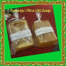 Turmeric & Olive Oil Soap, Natural Skin Lightening Healing Soap with Vitamin E A