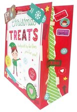 Christmas Gift Bag Large Xmas Present Wrapping Cute Kids Elf Children +Free Tape
