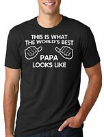 Papa T-shirt Gift for Dad Father Papa Birthday Tee Shirt Gift Father's Day