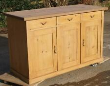 AN IMPOSING EARLY 20th CENTURY ANTIQUE GERMAN PINE SIDEBOARD / DRESSER BASE