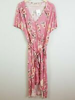 JUST JEANS | Womens Floral Print Wrap Dress NEW [ Size AU 12 or US 8 ]