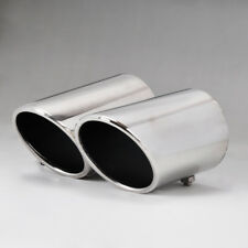 For VW CC 08-14 EOS 06-14 Passat B6 Chrome Exhaust Tail Muffler Tip Pipe 2X Kit